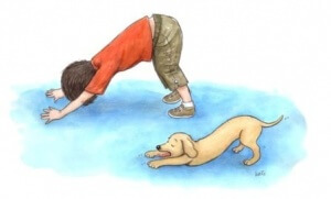 kid downward dog