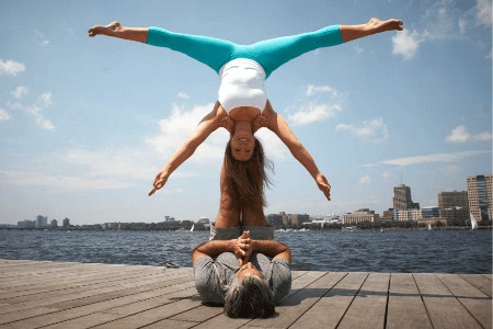 strengthen your relationships with these acro yoga poses